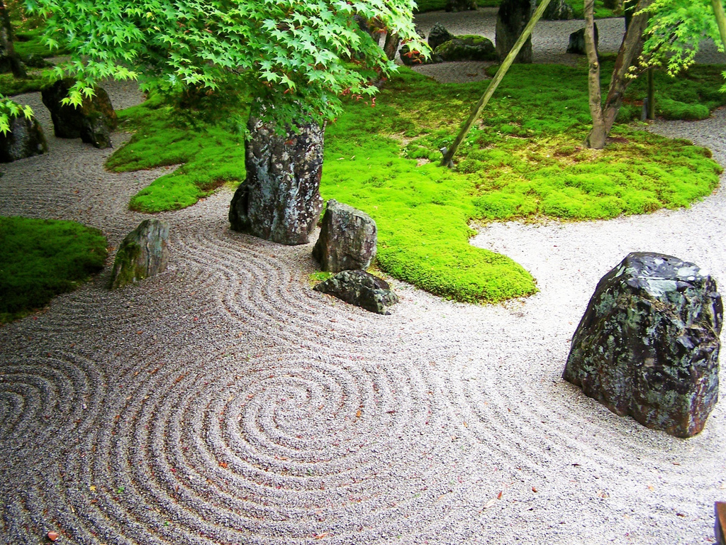 Japanese rock gardens Pictures of zen rock gardens
